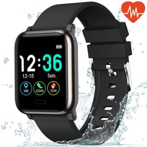 L8star Fitness Tracker Heart Rate Monitor Waterproof Activity Tracker with 6 Sports Mode,Sleep Monitor,Pedometer Smart Wrist Band for Women Men, Android iOS